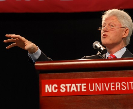 Bill Clinton at NC State