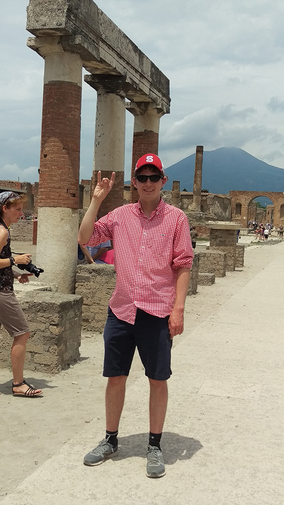 NC State student at Pompeii