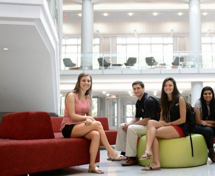 Students sitting in Talley Student Union