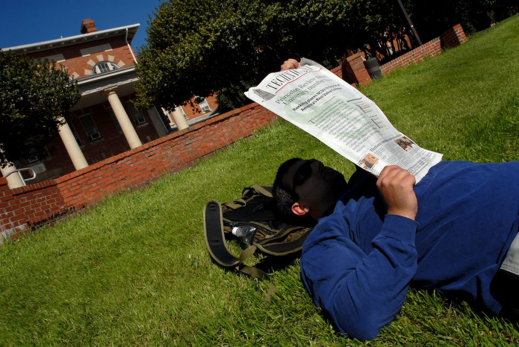 student reading Technician