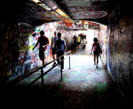 Free Expression tunnel walk