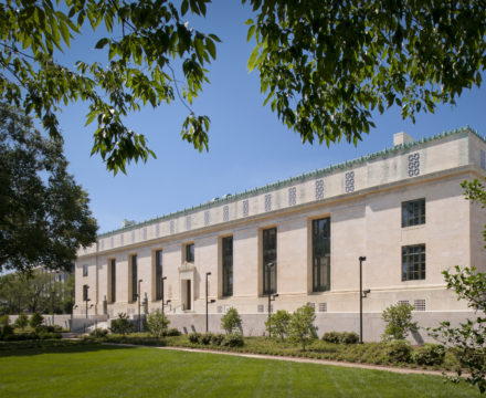 National Academy of Sciences building, located in Washington, D.C.; photo by Maxwell MacKenzie