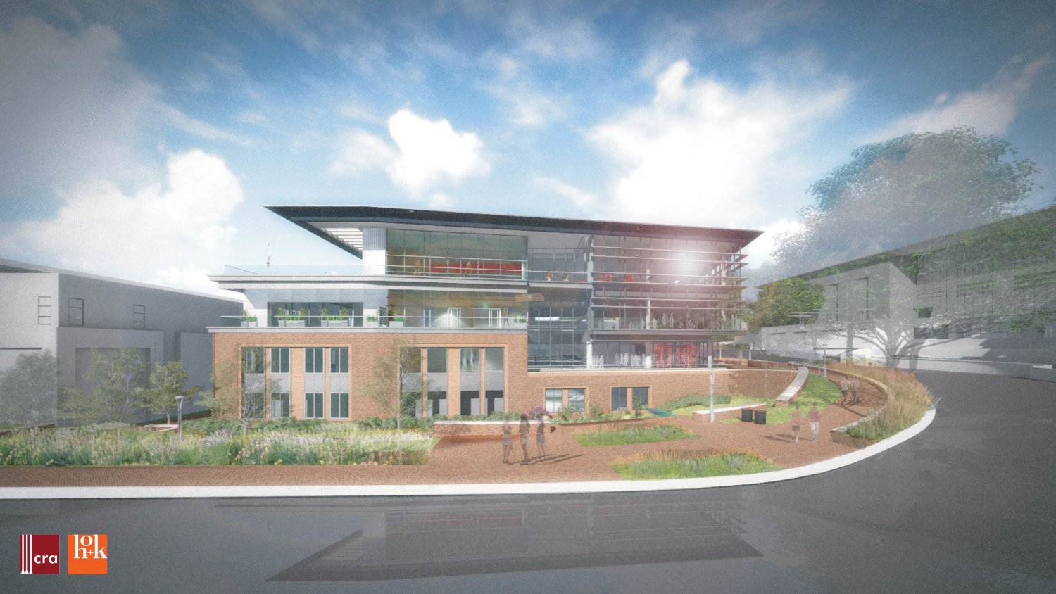 Rendering of the exterior of the new Wellness and Recreation Center