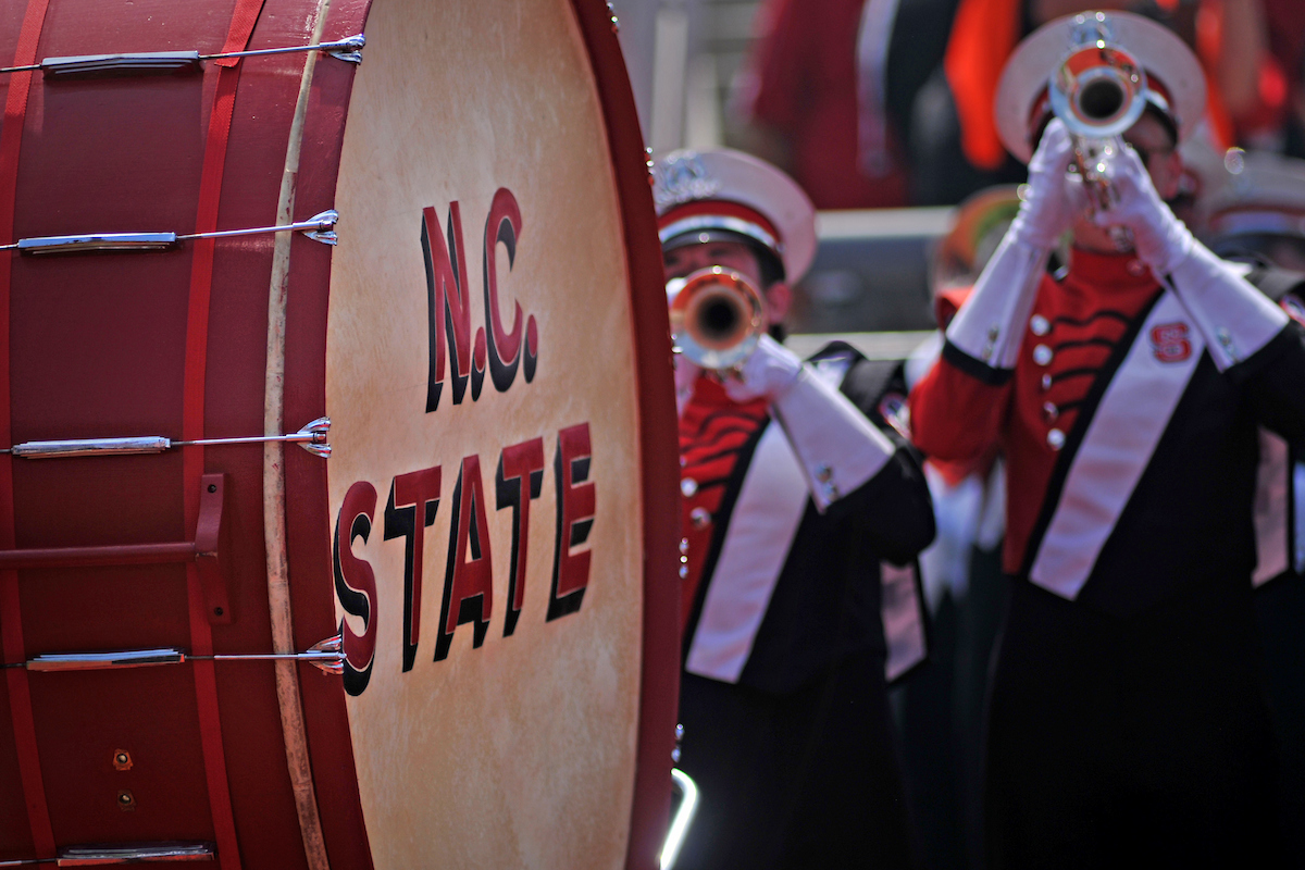 March band image to illustrate the academic music options at NCState.