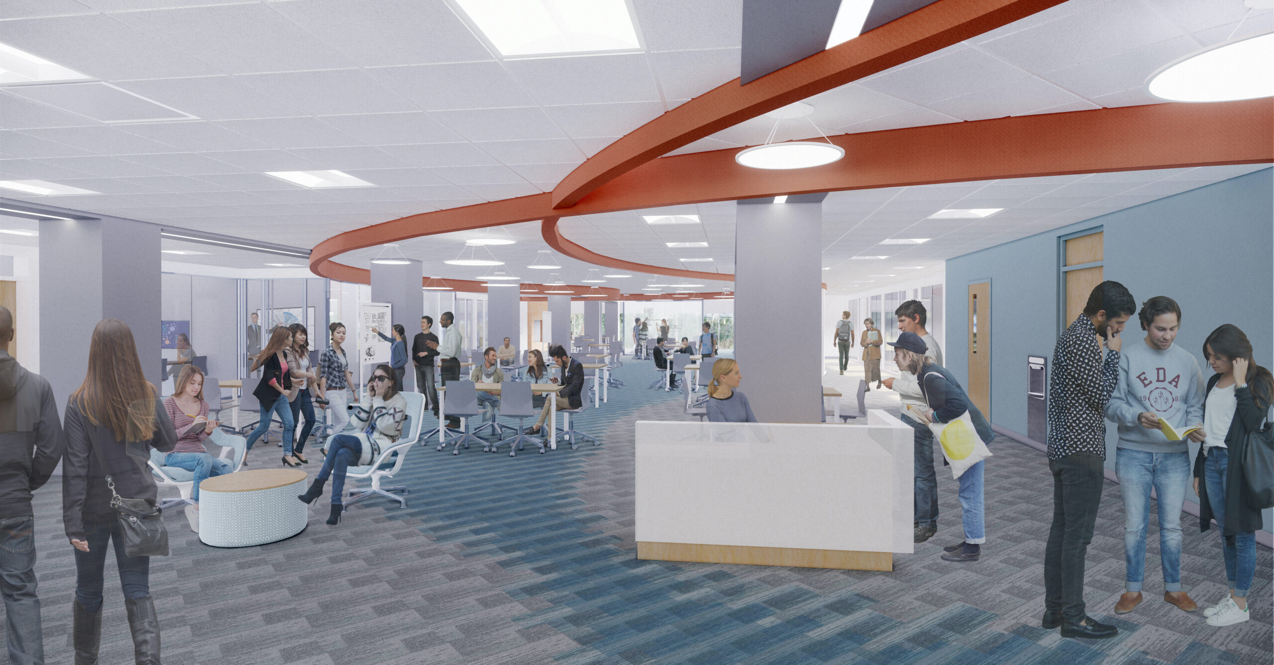 Academic Success Center rendering to show before information about the center below.