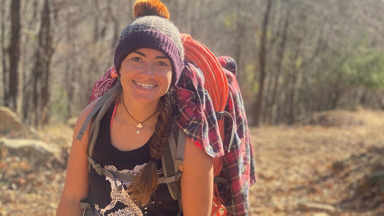 Kristen Keane in hiking gear