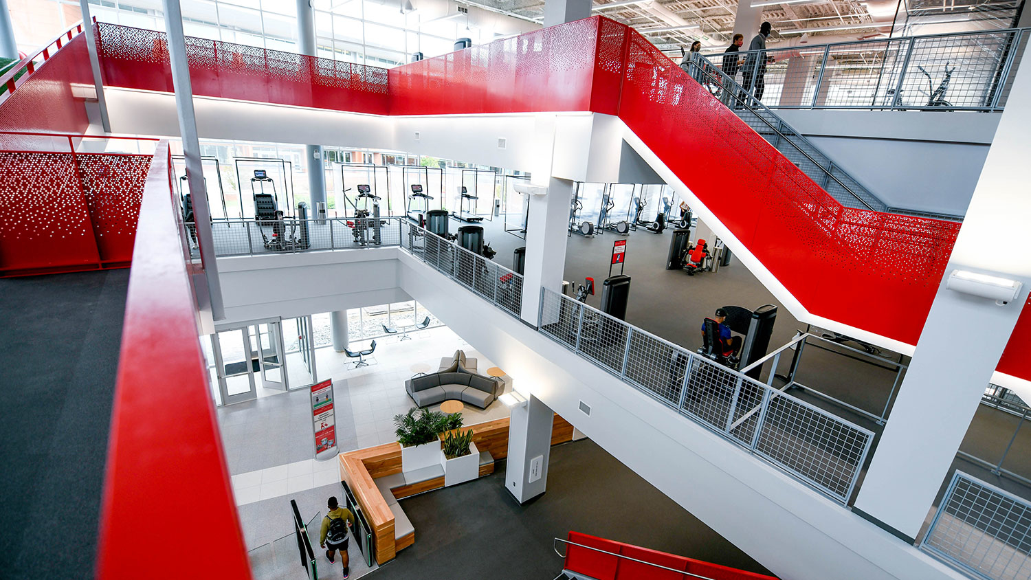 interior of NC State's new Wellness and Recreation Center
