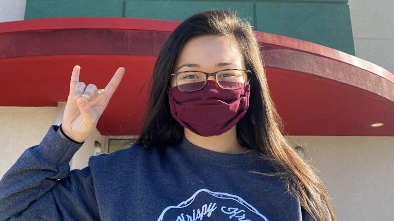 Tatum Kellum '22 pictured at her local Krispy Kreme in Jacksonville, North Carolina