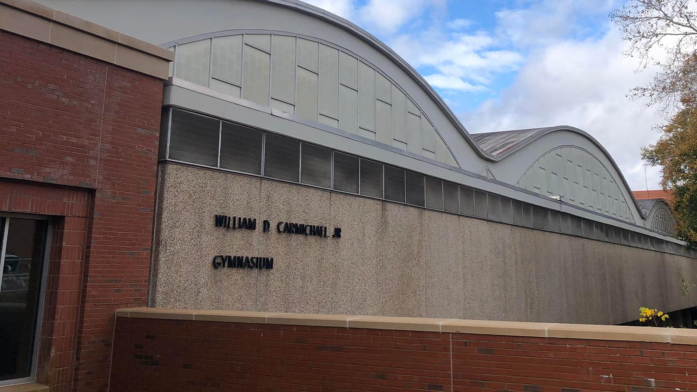Exterior of Carmichael Gymnasium