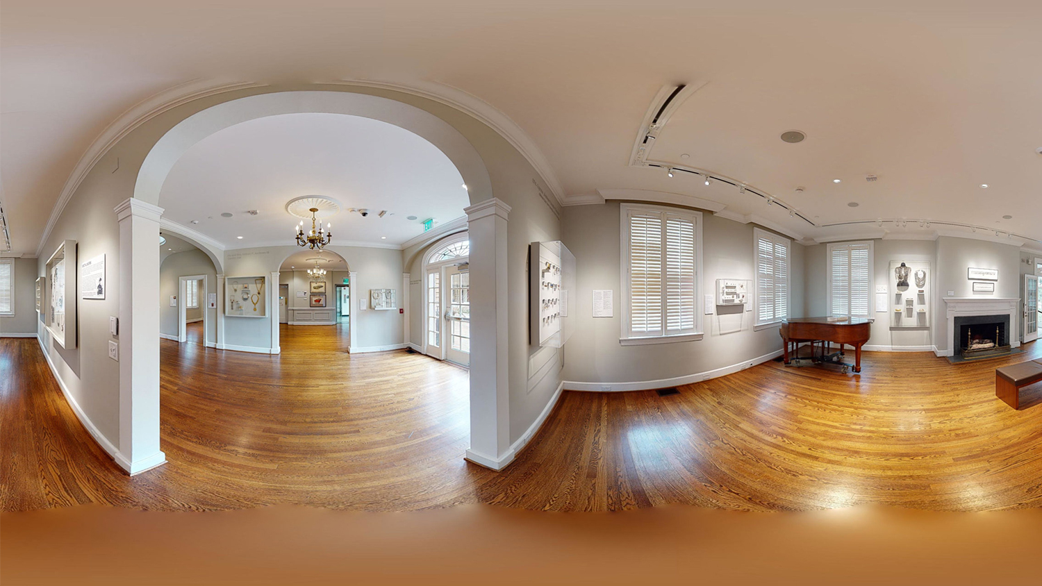 Screenshot of a virtual tour at the Gregg Museum