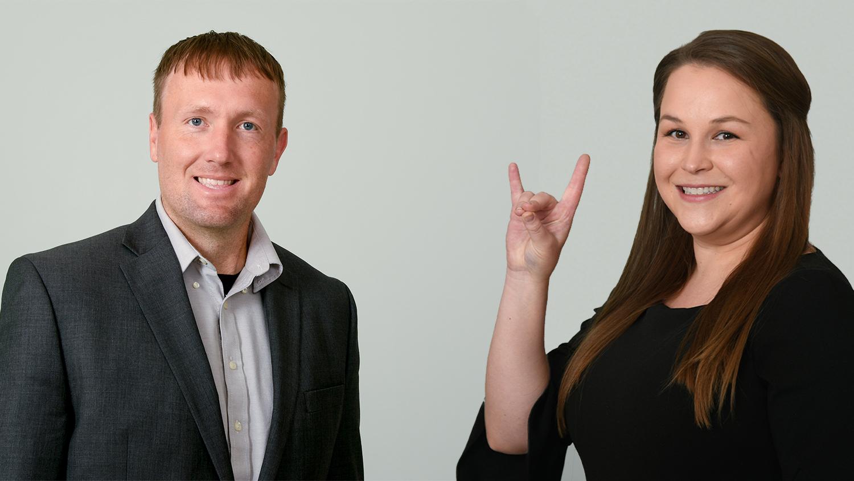 Ben Strunk and Rebekah Dunstan