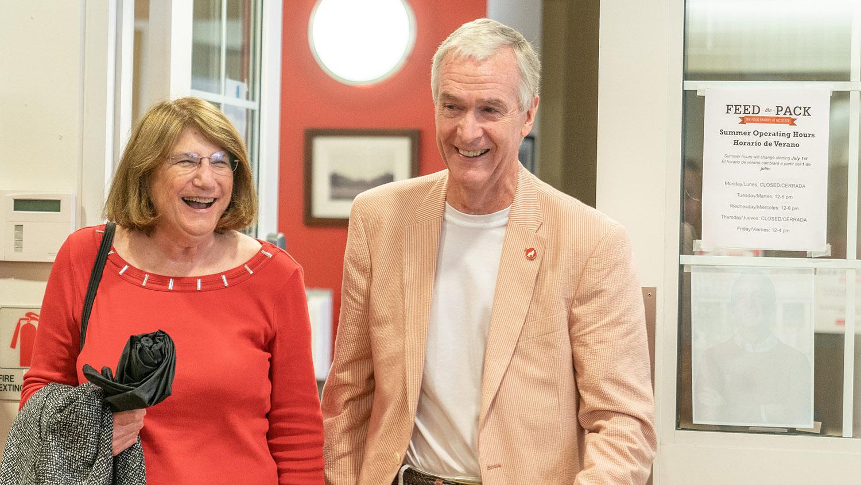 Jeff Braden walking in door with his wife, Jill
